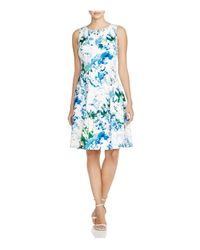 Calvin Klein - Multicolor Abstract-print Scuba Dress - Lyst
