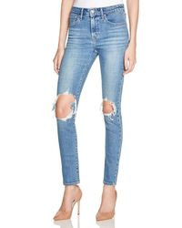 Levi's - Blue 721 Skinny Jeans In Rugged Indigo - Lyst