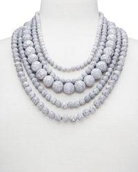 "BaubleBar   Metallic Globe Strands Layered Necklace, 18""   Lyst"