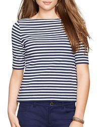Pink Pony - Blue Lauren Petites Striped Top - Lyst
