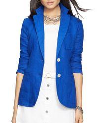 Pink Pony - Blue Lauren Linen Blazer - Lyst