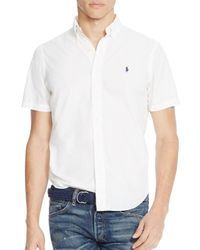 Polo Ralph Lauren | White Cotton Silk Regular Fit Button-down Shirt - 100% Bloomingdale's Exclusive for Men | Lyst