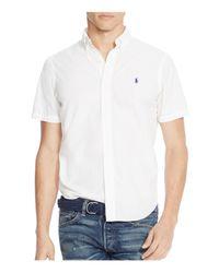 Polo Ralph Lauren | White Cotton Silk Regular Fit Button-down Shirt for Men | Lyst