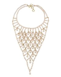 "Carolee - Metallic Gracie Mansion Drama Bib Necklace, 16"" - Lyst"