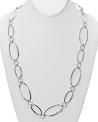 Pink Pony | Metallic Lauren Oval Link Necklace, 34"