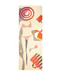 Yarnz - Multicolor Beachy Stripes Scarf - Lyst