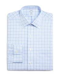 Brooks Brothers - Blue Non-iron Alt Twin Tattersall Classic Fit Dress Shirt for Men - Lyst