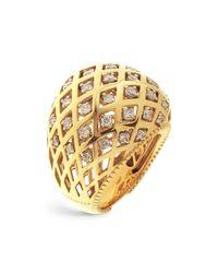 Chimento Metallic 18k White And Yellow Gold Olimpia Ring With Diamonds