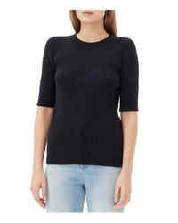 Sandro - Black Sloane Ribbed Sweater - Lyst