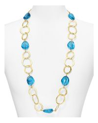 Kenneth Jay Lane | Metallic Circle Chain Necklace, 34"
