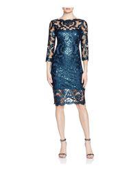 Tadashi Shoji - Blue Sequined Lace Dress - Lyst