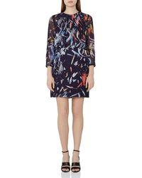 Reiss - Orange Maye Abstract Print Dress - Lyst