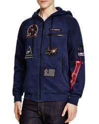 ELEVEN PARIS - Blue Magala Zip Hoodie - Compare At $155 for Men - Lyst