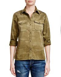 Current/Elliott - Natural The Perfect Camo Shirt - Lyst