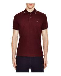 Z Zegna - Red Pima Cotton Piqué Slim Fit Polo for Men - Lyst