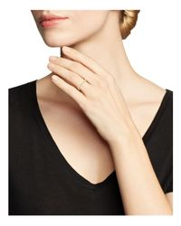 Zoe Chicco | Metallic 14k Yellow Gold Bar Ring With Bezel-set Diamonds | Lyst