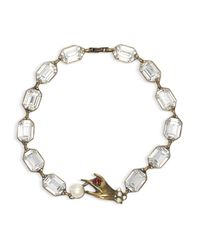 """Marc Jacobs - White Hand Necklace, 17.5"""" - Lyst"""