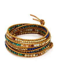 Chan Luu | Metallic Aqua Terra Mix Beaded Wrap Bracelet | Lyst