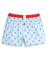 Psycho Bunny | Blue Woven Boxers for Men | Lyst