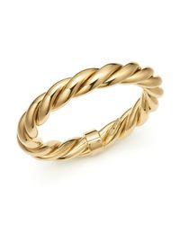 Roberto Coin | Metallic 18k Yellow Gold-plated Sterling Silver Twist Bangle Bracelet | Lyst