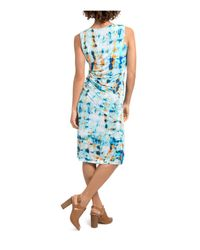 Lyssé - Blue Lupe Abstract Print Dress - Lyst