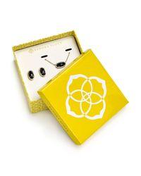 Kendra Scott   Black Ellie Earrings & Elisa Necklace Gift Set   Lyst