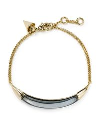 Alexis Bittar - Metallic Thin Bangle Bracelet - Lyst