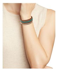 Chan Luu - Brown Turquoise Wrap Bracelet - Lyst