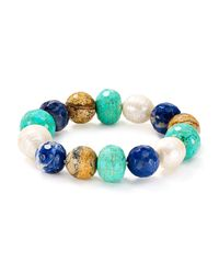Chan Luu - Blue Beaded Bracelet - Lyst