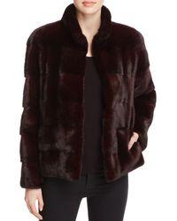 Maximilian | Black Leather-trim Long-sleeve Mink Jacket | Lyst