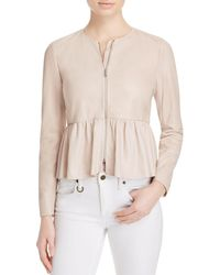 Rebecca Taylor - Multicolor Leather Peplum Jacket - Lyst