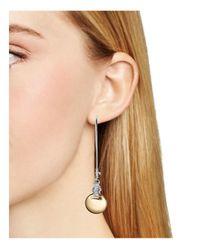 Robert Lee Morris - Metallic Two-tone Shepherd's Hook Earrings - Lyst