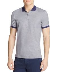 BOSS - Blue Penrose Slim Fit Stripe Polo for Men - Lyst