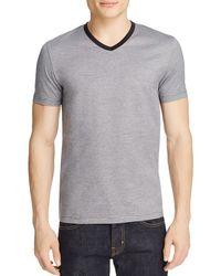 BOSS - Gray Teal Slim Fit Stripe Tee for Men - Lyst