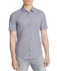 BOSS - Blue Luka Gingham Check Regular Fit Button Down Shirt for Men - Lyst