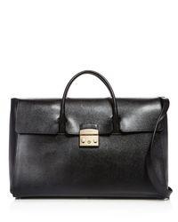 Furla | Black Metropolis Large Leather Satchel | Lyst