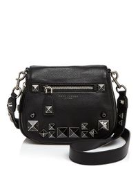 Marc Jacobs | Black Small Recruit Chipped Stud Saddle Bag | Lyst
