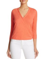 NIC+ZOE | Orange Four-way Cardigan | Lyst
