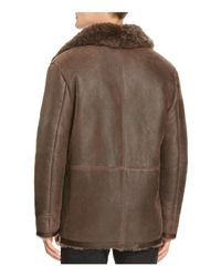 Vince - Brown Shearling Coat for Men - Lyst