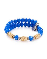 ALEX AND ANI | Blue Ultramarine Adventures Wrap Bracelet | Lyst