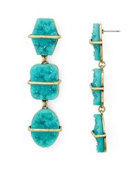 BaubleBar - Blue Loa Druzy Drop Earrings - Lyst
