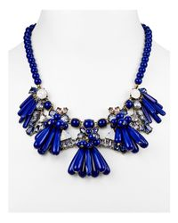 "BaubleBar - Blue Greta Collar Necklace, 16.5"" - Lyst"