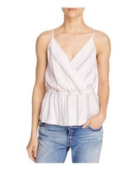 Free People | Natural Psychedelic Summer Faux-wrap Top | Lyst