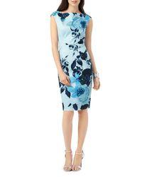 Phase Eight - Blue Chantay Rose Print Sheath Dress - Lyst