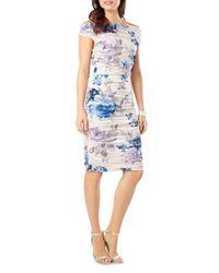 Phase Eight - Blue Cindy Crush Rose Print Dress - Lyst
