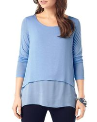 Phase Eight - Blue Ciera Layered Top - Lyst