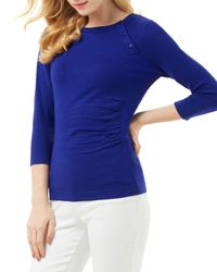Phase Eight - Blue Bianka Button Knit Sweater - Lyst