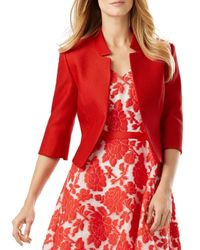 Phase Eight - Red Valentine Cropped Jacket - Lyst