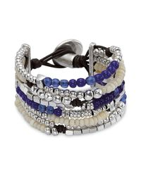 Uno De 50 - Metallic Bonnaroo Multi Strand Bracelet - Lyst
