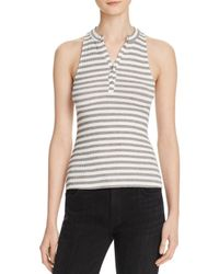 Project Social T - White Striped Polo Tank - Lyst